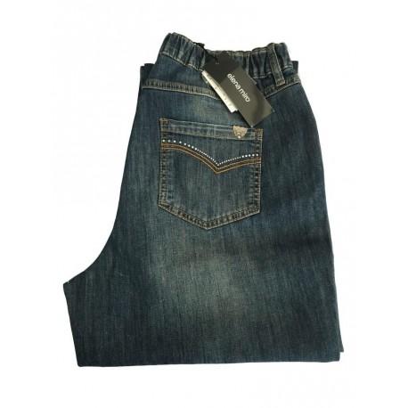 ELENA MIRO' jeans donna con elastico e dettagli tasca posteriore 98% cotone 2% elastan