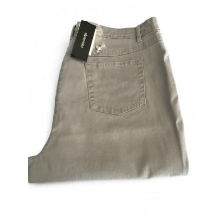 ELENA MIRO' pantalone donna grigio chiaro 98% cotone 2% elastan