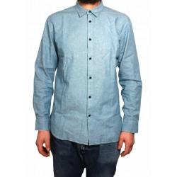 MADE & CRAFTED camicia uomo manica lunga 100% cotone mod 18490