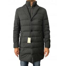 LUIGI BIANCHI MANTOVA cappotto grigio con pettorina 100% lana