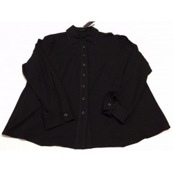 ELENA MIRO' shirt jersey black with automatic buttons 92% viscose 8% elastane