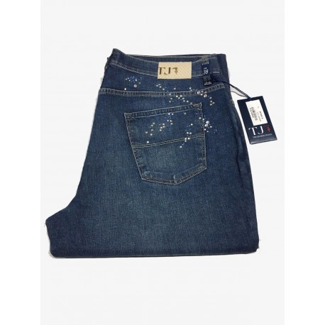 TRUSSARDI JEANS mod 130 women with leather appliqué on the back pockets