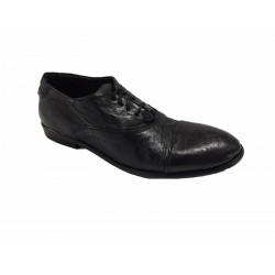 KUDETA' scarpa donna nera allacciata tacco cm 2 mod 623803 100% pelle MADE IN ITALY