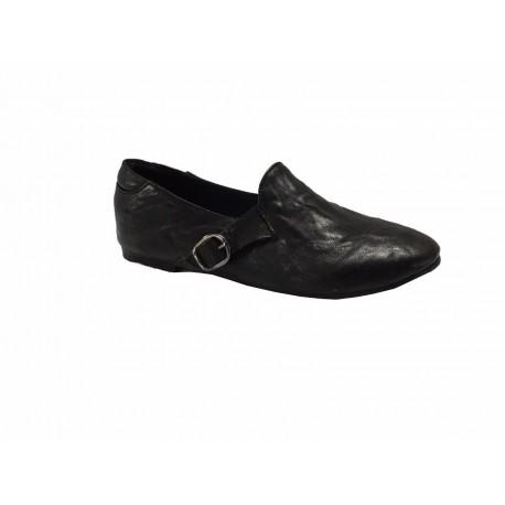 KUDETA scarpa donna nera lavorazione GOODYEAR tacco cm 1 mod 623201 MADE IN ITALY