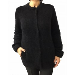 BERTANI jacket black with lurex studs