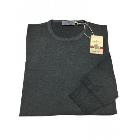 DELLA CIANA maglia uomo grigio 100% lana MADE IN ITALY tg.60