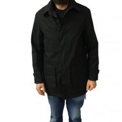MANIFATTURA CECCARELLI giaccone uomo nero mod 7055 100% cotone EVENT FABRICS MADE IN ITALY