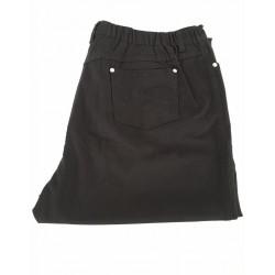 ELENA MIRÒ woman trousers, black color, with elastic back 96% cotton 4% elastane