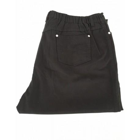 ELENA MIRÒ pantalone donna, colore nero, con elastico dietro 96% cotone 4% elastan