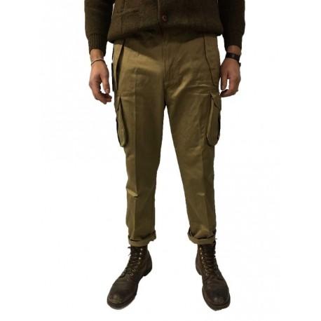 MANIFATTURA CECCARELLI pantalone uomo con tasconi laterali beige 75%cotone 25% poliestere MADE IN ITALY