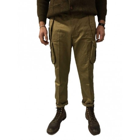 MANIFATTURA CECCARELLI pants man with side pockets beige 75% Cotton 25% Polyester MADE IN ITALY