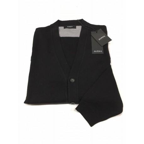 ALPHA STUDIO cardigan man mod.AU-4014E black