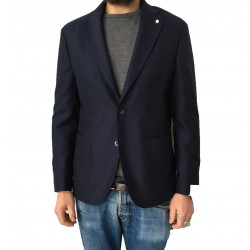 LUIGI BIANCHI MANTOVA man jacket mod TRAVELLING JACKET Blue