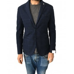 L.B.M 1911 blue windowed man jacket 100% cotton slim fit