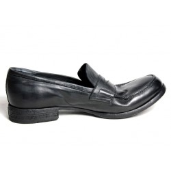 OPEN CLOSED MAN SHOES black Color 100% leather MADE IN ITALY