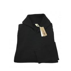 GRP maglia uomo collo aperto nero mod SF M 30 100% lana MADE IN ITALY