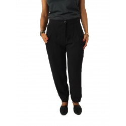 TADASHI pants woman with black elastic 100% polyester MADE IN ITALY