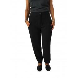 TADASHI pantalone donna con elastico nero 100% poliestere MADE IN ITALY