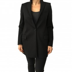 HANITA long black jacket 65% viscose 30% nylon 5% spandex MADE IN ITALY