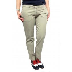 ASPESI pantalone donna mod H101 beige 100% cotone MADE IN ITALY