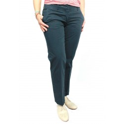 ASPESI pantalone donna mod H101 blu 100% cotone MADE IN ITALY