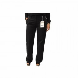 ASPESI women black trousers mod H111 100% cotton bottom 27 cm