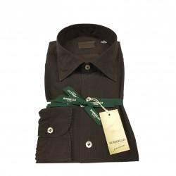 BORRIELLO NAPOLI camicia uomo moro microdisegno 100% cotone MADE IN ITALY