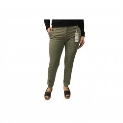 ASPESI pantalone donna mod H105 militare 98% cotone 2% elastan