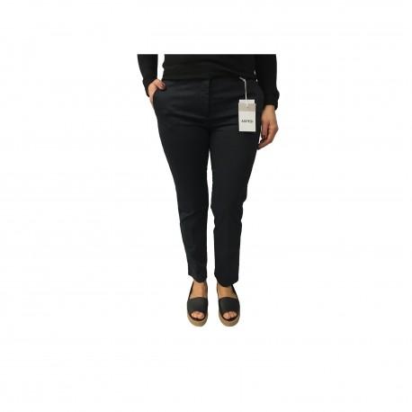 ASPESI pants mod woman H105 blue color 98% cotton 2% elastane
