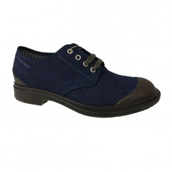 PEZZOL 1951 scarpa uomo tela denim suola gonna mod MONSTER 014FZ-55