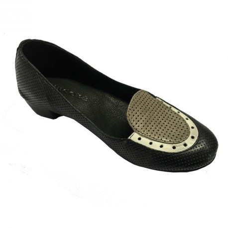 KUDETA ' scarpa donna nera /grigio/bianco 100% pelle MADE IN ITALY tacco cm 3