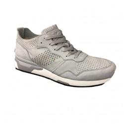 CRIME LONDON scarpa uomo grigio sfoderata mod 11522S17B 100% pelle scamosciata