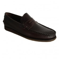 ICON LAB mocassino uomo sfoderato moro mod 740312 100% pelle, suola in gomma MADE IN SPAIN