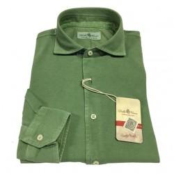 DELLA CIANA camicia uomo, colore verde chiaro, modello 71/43250 100% cotone