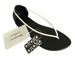 IPANEMA woman flip flops in Philippe Starck rubber N Black/White MADE IN BRAZ