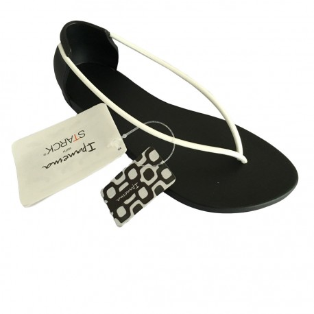 IPANEMA infradito donna in caucciù Philippe Starck N Black/White MADE IN BRAZIL