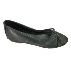 KUDETA' scarpa donna ballerina blu 100% pelle MADE IN ITALY