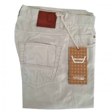 CARE LABEL jeans for men slim cotton slub 402 100% cotton MADE IN ITALY cream