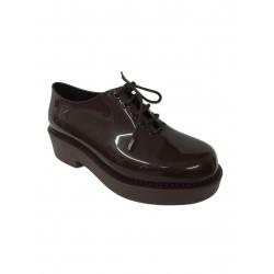 MELISSA shoe laced women, wine, model 31773, 100% natural rubber MADE IN BRAZIL 4 cm heel
