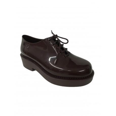 MELISSA scarpa allacciata da donna, colore wine, modello 31773, 100% caucciù MADE IN BRAZIL tacco cm 4