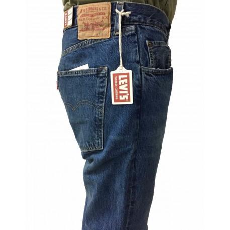 LEVI'S VINTAGE CLOTHING jeans uomo stone washed 501 1966 mod 66466-0015 100% cotone