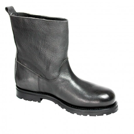 KUDETA' boot anthracite woman low mod 523107 100% leather MADE IN ITALY