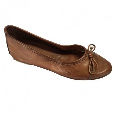 KUDETA' scarpa donna ballerina cuoio 100% pelle MADE IN ITALY