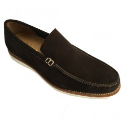 LOTUS OF ENGLAND moccasin man mod OLIVER in dark brown suede
