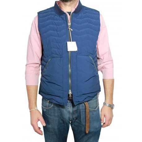 M.I.D.A cornflower blue fabric JAPANESE man vest
