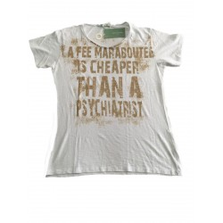 LA FEE MARABOUTE t-shirt donna mezza manica bianco 100% cotone MADE IN ITALY