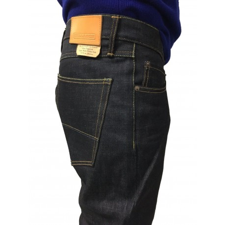 TELLASON jeans uomo mod 101.03 LADBROKE GROVE SLIME TAPERED CONE MILLS WHITE OAK