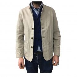 MANIFATTURA CECCARELLI giacca uomo sfoderata beige mod 6013 76% cotone 24% lino MADE IN ITALY