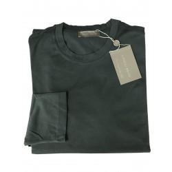 GIRELLI BRUNI t-shirt uomo manica lunga antracite 100% cotone GIZA 60 MADE IN ITALY