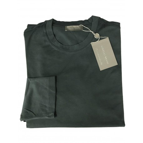 GIRELLI BRUNI t-shirt long sleeve anthracite 100% cotton GIZA 60 MADE IN ITALY